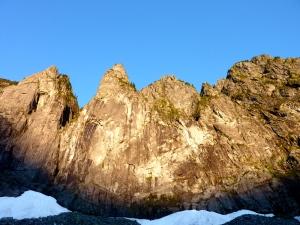 The Norwegian buttresses on left side.